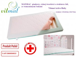 Materac PIANKOWY  Vitmat Active Baby